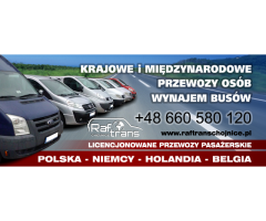 RafTrans Chojnice - przewóz osób i paczek: NIEMCY, HOLANDIA, BELGIA, LUKSEMBURG